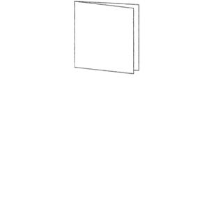 Anhänger Format klein Klappkarte