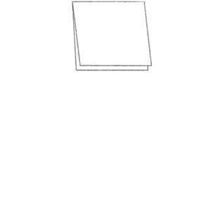 Anhänger Format klein Klappkarte oben